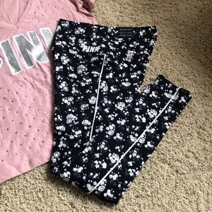 Pink Floral legging Small